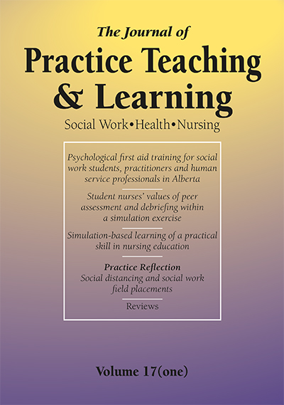Front cover of Journal of Practice Teaching and Learning