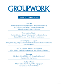 Frontcover of recent issue of Groupwork