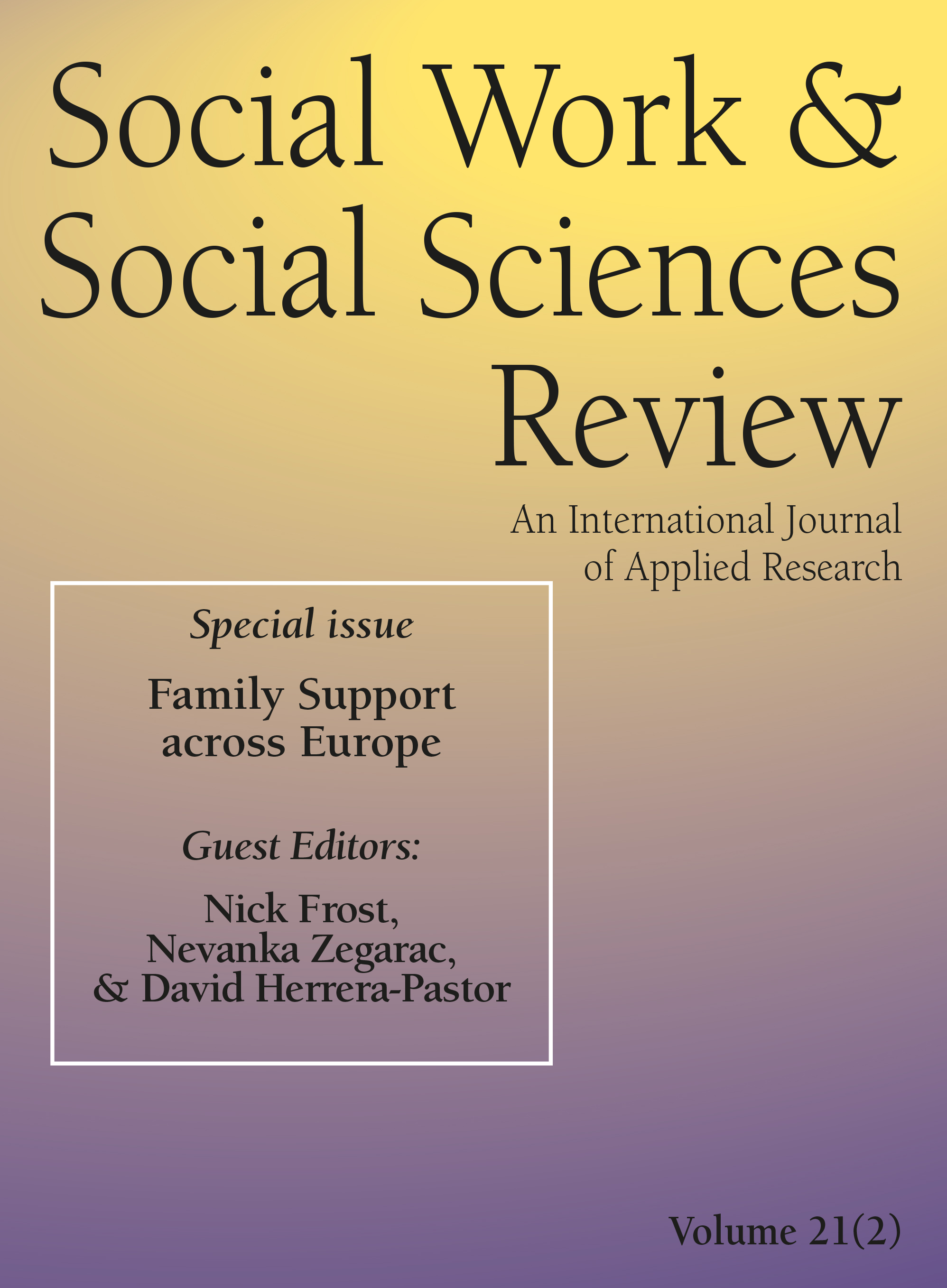 Cover of Social Work & Social Sciences Review
